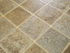 Laminate tile floor
