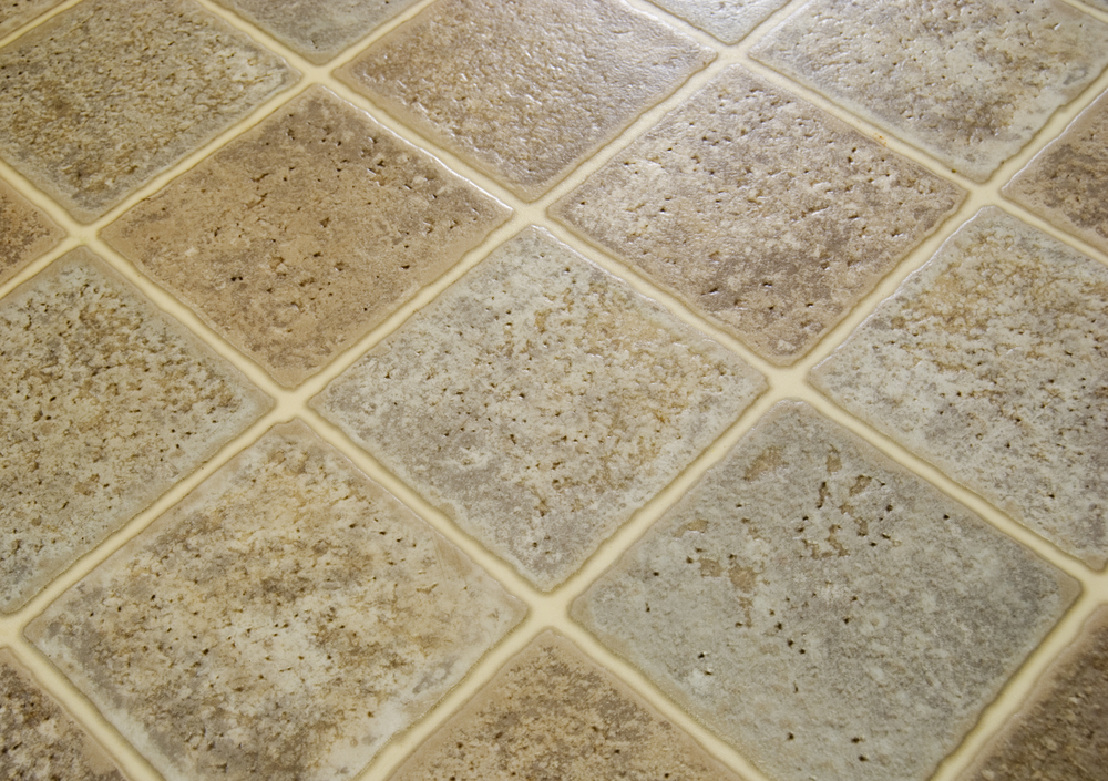 Laminate tile floor